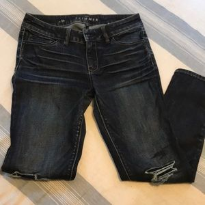 White House Black Market semi distressed jeans